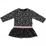 Preview: BESS Baby Mädchen Kleid Flowers, Anthrazit