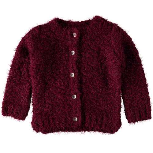 NAME IT Mädchen Zottel Strick Cardigan VILJA