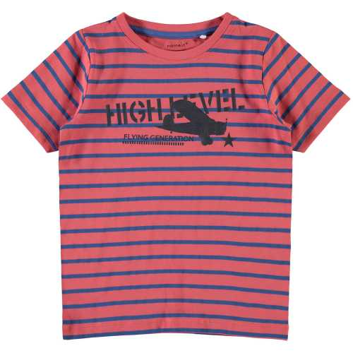 NAME IT Jungen T-Shirt kurzarm VUX, Spiced Coral
