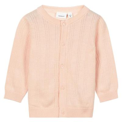 NAME IT Baby Mädchen Strick Cardigan GALA, Peachy Keen