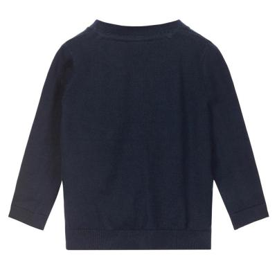 NAME IT Baby Jungen Strick Cardigan GAROM, Dark Sapphire