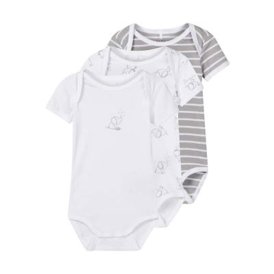 NAME IT Baby Body 3er Pack, kurzarm, Alloy
