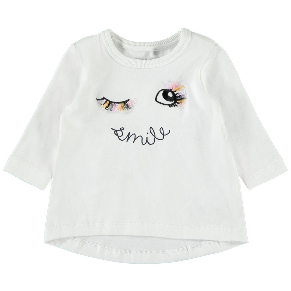 Mädchen Baby Langarm Shirt ausgestellter Rücken NAME IT Pullover 56 62 68 74 80