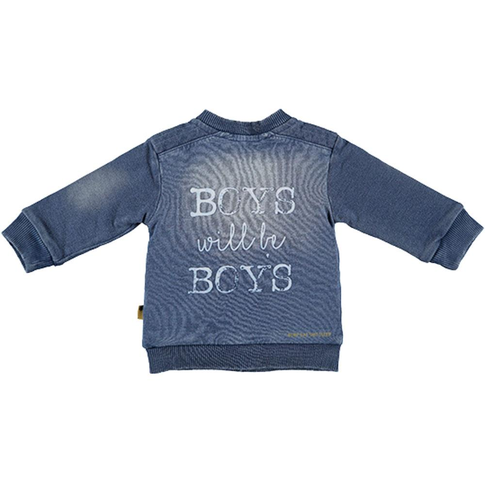 BESS Baby Jungen Jeans Cardigan Boys will be boys