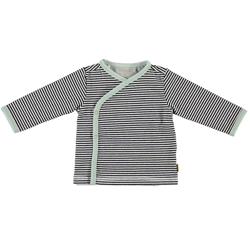 BESS Baby Unisex Wickel Shirt Ringel, Anthrazit
