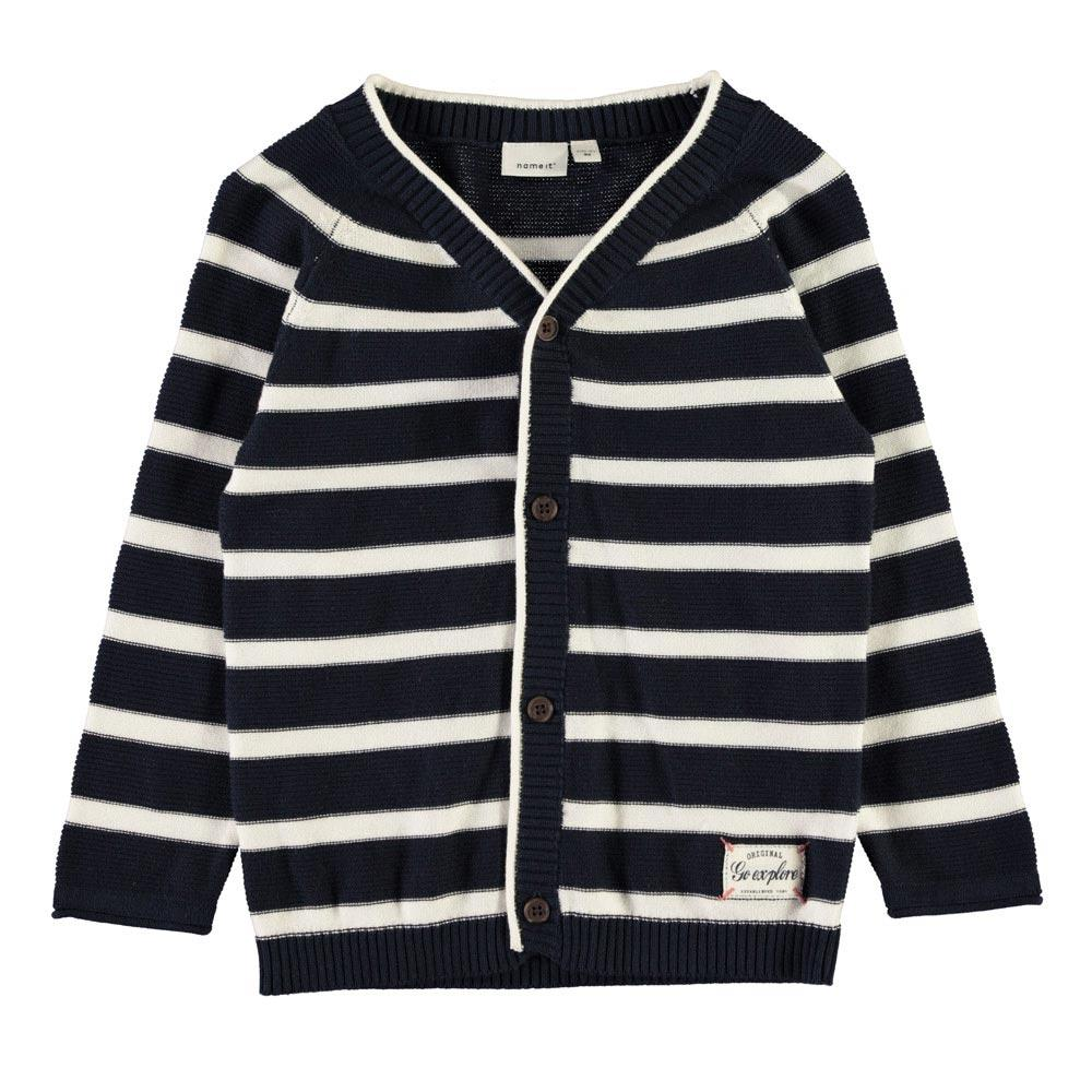NAME IT Jungen Strick Cardigan FAROLLO, Dark Sapphire