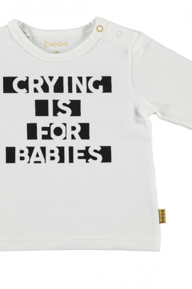 BESS Baby Unisex Langarmshirt Crying is for babies