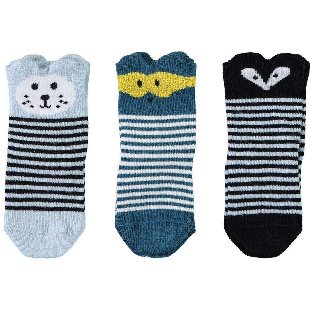 NAME IT Baby Jungen 3er Set Socken FOREST