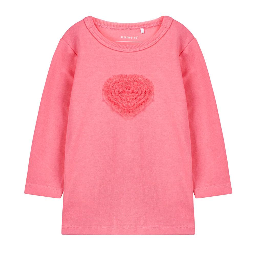 NAME IT Baby Mädchen Langarmshirt OVA, Bubblegum
