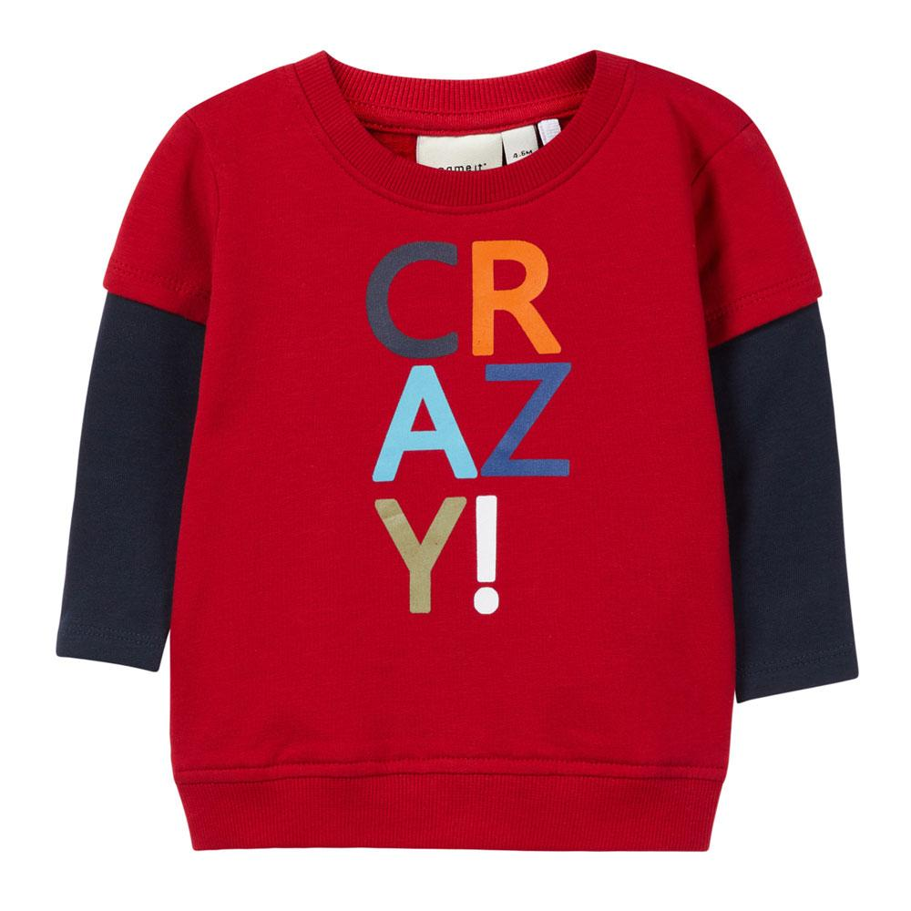NAME IT Baby Jungen Sweatshirt OLLI, Jester Red