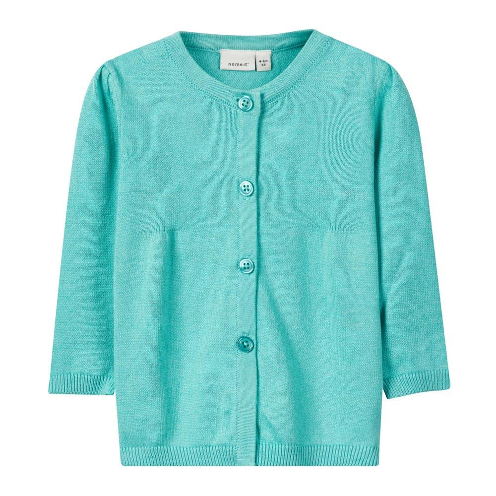 NAME IT Baby Mädchen Strick Cardigan DEA, Pool Blue