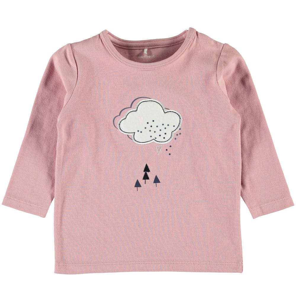 NAME IT Baby Mädchen Langarm-Shirt VELVET